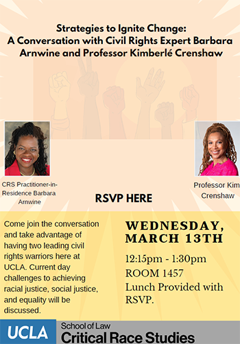 Strategies to Ignite Change: A Conversation with Civil Rights Expert Barbara Arnwine and Professor Kimberlé Crenshaw