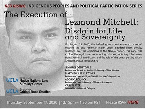 Poster from The Execution of Lezmond Mitchell: Disdain for Life and Sovereignty