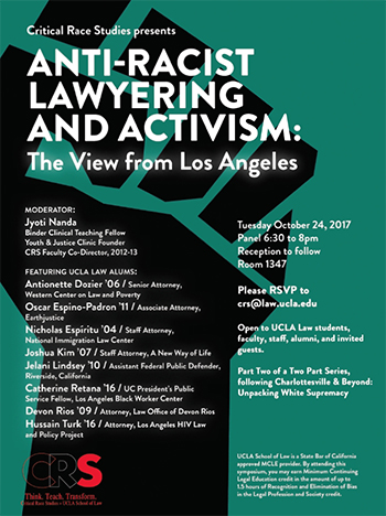 Anti-Racist Lawyering and Activism: The View from Los Angeles