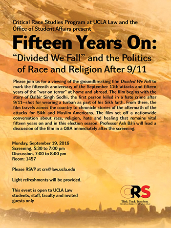 """Fifteen Years on: """"Divided We Fall"""" and the Politics of Race and Religion after 9/11"""