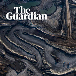 Aerial sand oil site from The Guardian