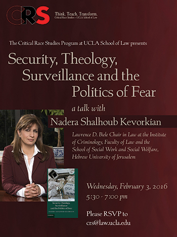 Security, Theology, Surveillance and the Politics of Fear