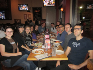 Armenian Law Students Association group out at a restaurant