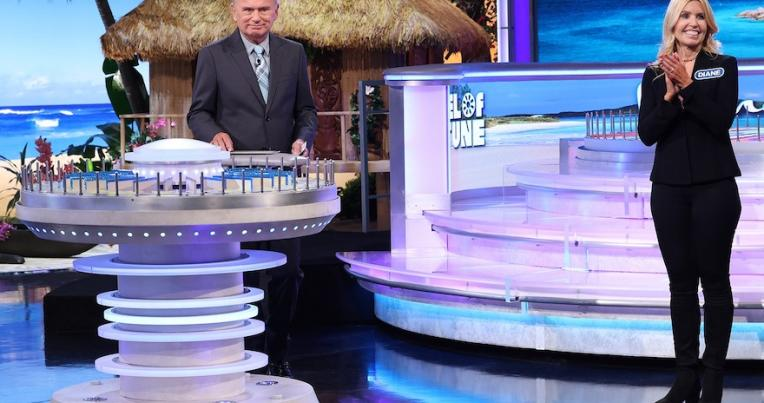 UCLA Law Lecturer Diane Birnholz and Pat Sajak on Wheel of Fortune