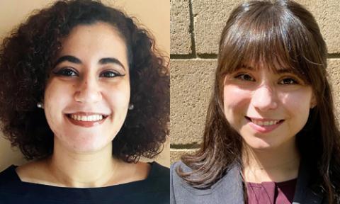 UCLA Law students Menna Elsayed and Karina Silva