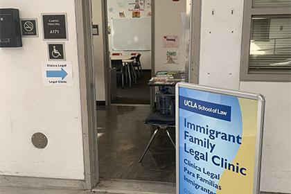 Entrance to Immigrant Family Legal Clinic