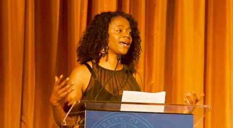 Lola Smallwood Cuevas, project director at the UCLA Labor Center and recipient of the Champion of Change award.