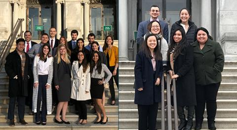 UCDC students in the 2018-19 class outside the Library of Congress.