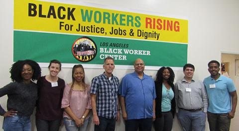 UCLA Law students with the staff of the Los Angeles Black Worker Center.