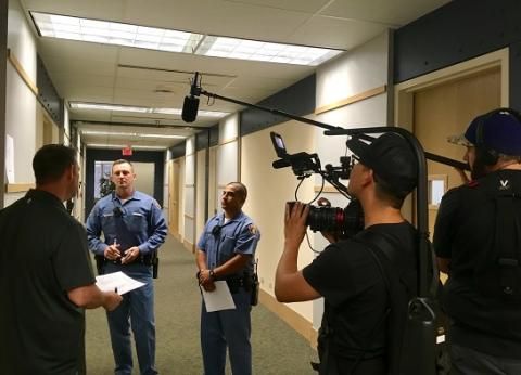 """On the set of """"Ernie & Joe,"""" an independent documentary film that received vital assistance from UCLA Law's Documentary Film Legal Clinic."""
